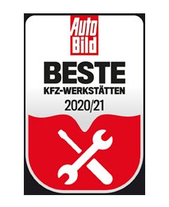 Urkunde Auto Bild: Beste KFZ-Werkstätten 20/21